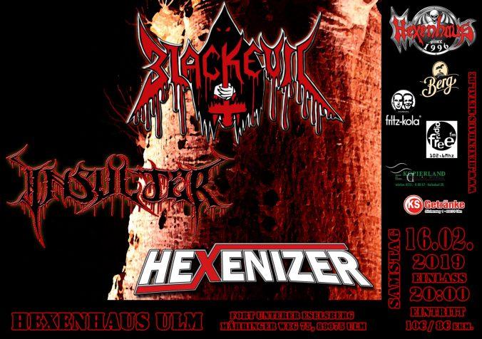 Blackevil, Insulter & Hexenizer live at Hexenhaus, Ulm - February 16, 2019