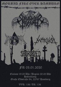 03 Jan 2020 - Morbid Fire Over Hamburg, Hafenklang - Slaughter Messiah, Blackevil, Warlust, Sacrifized